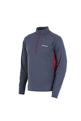 Berghaus UV Protection Tech Men's Outdoor Long Sleeve T-Shirt available in Carbon/Extreme Red - Small