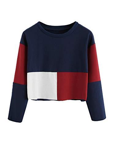 FreshTrend Women's Cotton Round Neck T-shirt (Blue, White, Maroon, Large)
