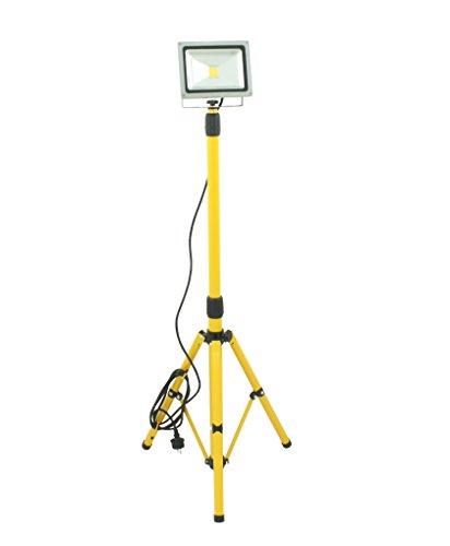 Trango 30 Watt LED Arbeitsstrahler inkl. 3m Zuleitung & höhenverstellbarem Stativ 66-170cm TGG1504-306W