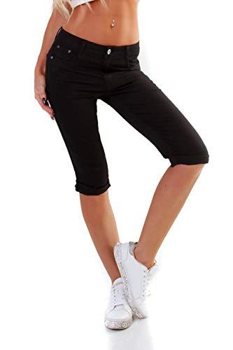 OSAB-Fashion 11036 Damen Caprihose Capri Hose Sommer Pants 3/4Hose Slimfit auch Übergrößen