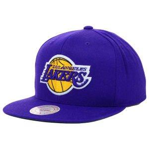 Los Angeles Lakers NBA Mitchell & Ness WOOL SOLID verstellbar Snapback Hat, Mädchen damen Jungen unisex Herren, violett (Basketball Schuhe Reebok Mädchen)