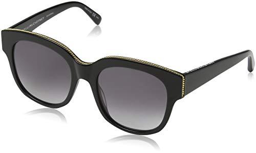 Stella McCartney Unisex-Erwachsene SC0007S 001 Sonnenbrille, Schwarz (001-Black/Grey), 54
