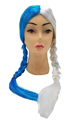 Piccoli monelli parrucca fata turchina donna celeste parrucca fatina bicolore carnevale