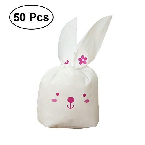 Toymytoy sacchetti portaconfetti per bomboniere a forma di coniglietto 50pcs