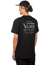 Vans Camiseta Holder Street II Negro-Asphalt 74fee6baa93