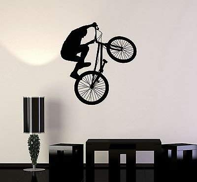 Vinyl Decal Bike BMX Bicycle Teen Room Extreme Sports Wall Stickers VS417