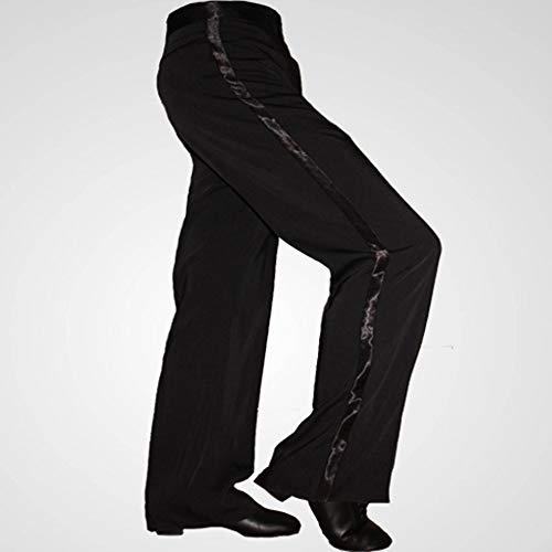 Jian E& Tanzhosen für Männer Latin Modern Dance Pants GB Ballsaal Square Dance Pants Übungshosen Lateinhosen anzeigen (Farbe : A, größe : 77cm) - Latin Dance Pants