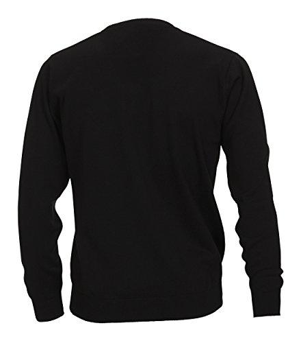 Casa Moda - Herren Pullover mit V-Ausschnitt in verschiedenen Farben (004130) Schwarz (80)