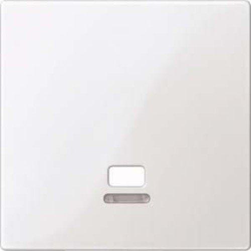 Merten MEG3380-0319 Zentralplatte mit Kontrollfenster für Zugschalter, polarweiß glänzend, System M -