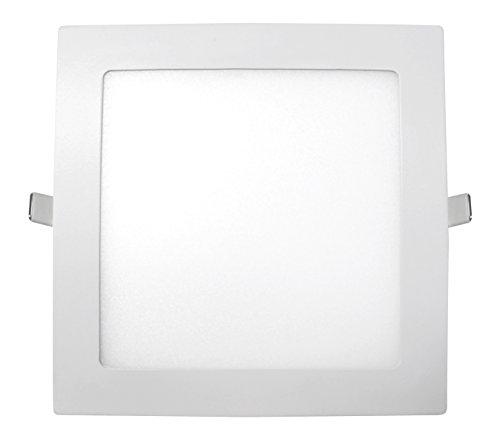 sevenon LED 64260 downlight lED sMD carré extra-plat intégré, 15 W, Blanc mat, 22,5 x 2 cm (côté x haut)