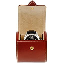 Case for keeping a watch on leather