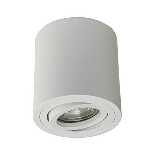 Aufbaustrahler Deckenspot schwenkbar inkl. 5,5W LED Leuchtmittel GU10 warmweiß (5,5W)