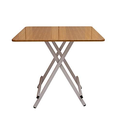 YXX- Holz Wohnzimmer Utility-Tabellen-Computer-Schreibtisch, Kleiner Folding Esstisch 4 Fuß für Küche Camping im Freien (Farbe : #3, größe : 60x60x55cm) - Utility-tabelle