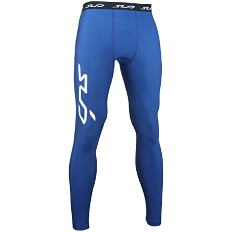 Sub Sports Bambino Cold Pantalone a compressione Thermisch Biancheria intima tecnica Base Layer Lang, Blu (Navy), 128/134 cm