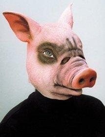Schweinekopf Kostüm - Orlob Maske Schwein Tiermaske Schweinemaske zum Kostüm Karneval Fasching