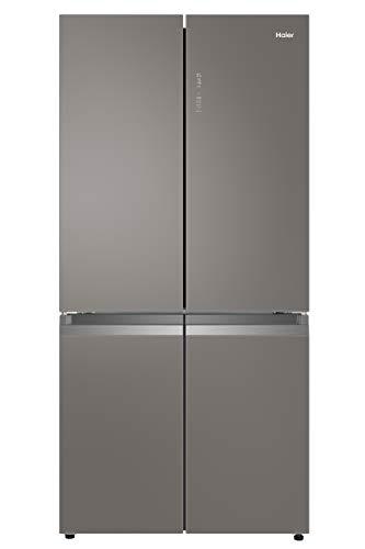 Haier HTF-540DGG7 Side-by-Side T-Door im edlen Glasdesign/A++/ 190, 5 cm Höhe/ 91 cm breite/ 65 cm Tiefe/ 340 kWh/Jahr/ 350 L Kühlteil/ 150 L Gefrierteil