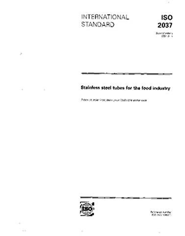 ISO 2037:1992, Stainless steel tubes for the food