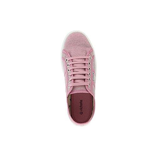 Victoria Basket Tejido Lurex, Sneakers da Donna Rosa