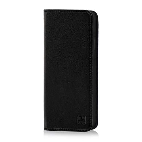 32nd Classic Series - Funda Tipo Libro de Piel Real para Xiaomi Mi 9 SE, Carcasa de Cuero Premium diseñada con Cartera, Cierre Magnetico y Soporte Integrado - Negro