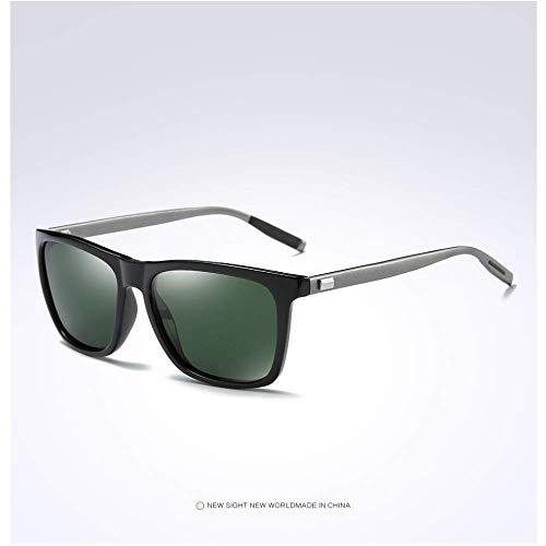 MJDL Männer Polarisierte Sonnenbrille Für Männer Retro Vintage Männliche Brillen Fahren Zubehör Sonnenbrille Uv400 Schwarz F Grün