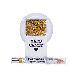 HARD CANDY Eye Candy Sparkle Cream Eye Shadow & Glitter Eye Liner HIGH BEAM (GOLD COLOR) by Hard Candy (Candy Hard Eyeliner)