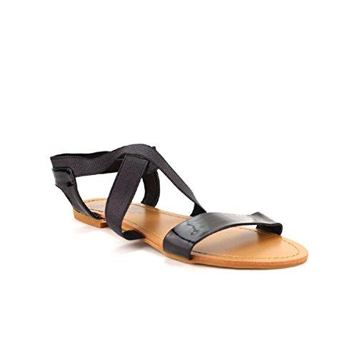 Cendriyon Sandale Noire Divine Moda Chaussures Femme Noir