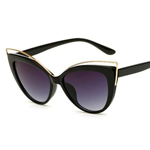 Retro Sonnenbrille für Damen, mit stilvollem großem Rahmen Runde Vintage Eyewear 100% UV Protection Eyewear,D