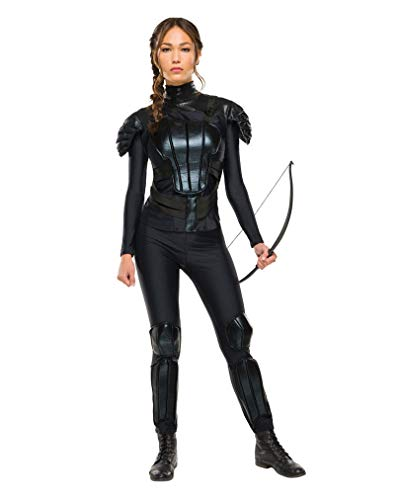 Horror-Shop Katniss Everdeen DLX-Kostüm S (Katniss Mockingjay Kostüm)