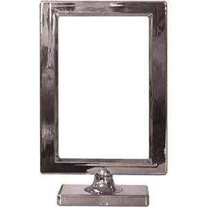 Amscan International-410030-18personalizable Tarjeta de Lugar Mesa marco, plata