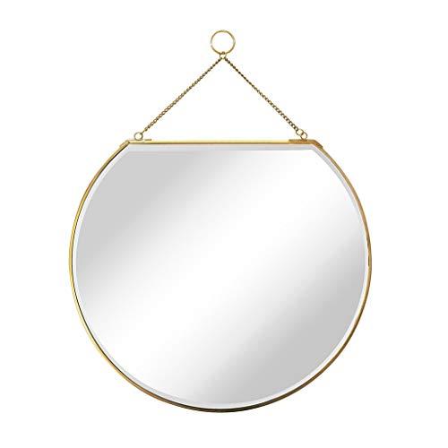 GXFC Zuhause Dekoration Klein Hängend Spiegel Schlafzimmer Wandspiegel Badezimmerspiegel Schminkspiegel Kosmetikspiegel Spiegel Metall gerahmt Kreis ausschneiden Dekorativer Spiegel 40x60cm