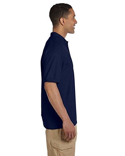 Gildan: Ultra cotone ispessitore e Piqué Maglietta sportiva a maniche lunghe–3800 Blu navy