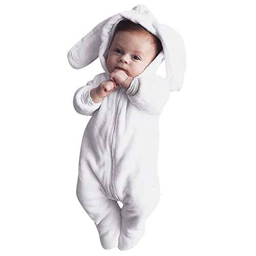 (BeautyTop Baby Overall Panda Sterne Winter Flanell gefüttert Strampler Jumpsuit mit Kapuze Spielanzug Tierkostüm Tieroutfit für Jungen Mädchen Farbe Größe wählbar)