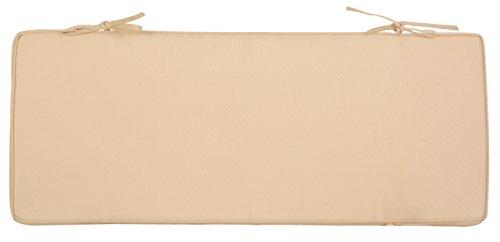 Esschert Design Kissen für MF009/MF010, 99 x 5,7 x 40 cm, mit Schlaufen zum Festbinden, in beige, ideal für Gartenbank/Schubkarrenbank