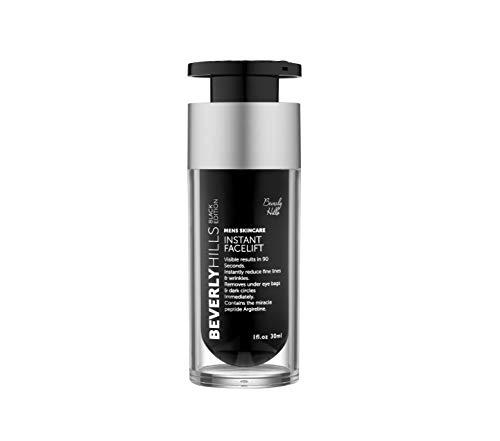 Beverly Hills Männer Instant Facelift Serum - Black Edition | 30ml | Anti-Aging-Formel mit Miracle Peptide Argireline | Feine Linien und Falten reduzieren | Wiederherstellen festerer Hautton -