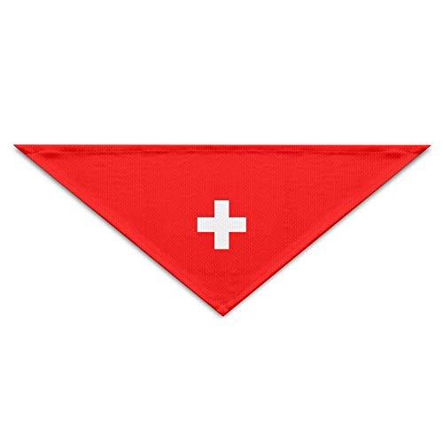 Schweiz Flag Dog Bandanas Schals Dreieck Lätzchen Schals Mode Basic Halstuch