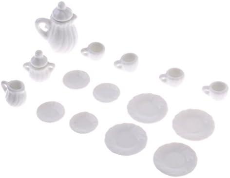 MagiDeal 15pcs Meubles de Poupée Service à Thé en Accessoires Porcelaine Décoration pour 1:12 Maison de Poupée Dollhouse Accessoires en Blanc B07BQSCDMM b0be5a