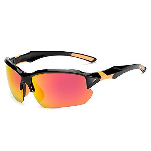 FYFY Herren Sonnenbrille UV400 Schutz Polarisiert Superleichtes Rahmen,Red