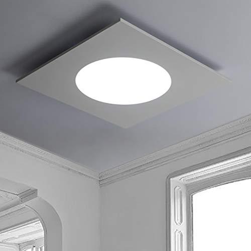 Preisvergleich Produktbild ZYY Moderne LED Deckenleuchte Acryl Eisen Anhänger Deckenleuchte Quadrat Weiß Kronleuchter Elegantes Wohnzimmer Esszimmer Schlafzimmer Küche Studie Bar Dekorative Lampe Deckenbeleuchtung D70cm-Warmes