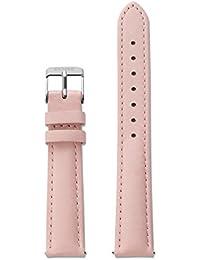 cluse Accessoires Unisexe bracelets en cuir Cuir Minuit Strap Rose/Silver Rose cls313