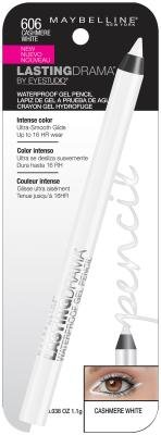 Maybelline Eyestudio Lasting Drama Gel étanche Pencil - 606 Cashmere blanc (pack de 2)