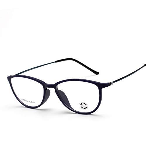 Shiduoli Runde Brillengestell für Männer und Frauen Gestellgläser ohne Korrekturbrillen (Color : Matte Black)