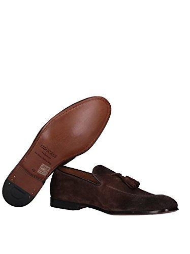 Doucal's mocassini marroni in pelle scamosciata men mod. du1080capruf680 40