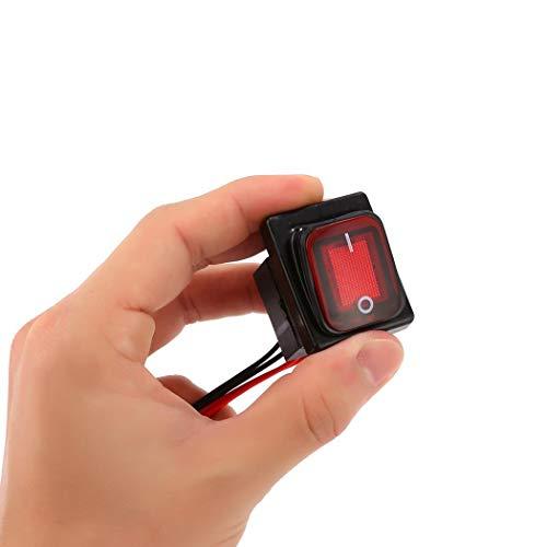 Imposes Wippschalter 4 Polig 250v 30A Kippschalter Wasserdicht Ein-Ausschalter Schalter/Rot, Grün, Schwarz - 30a Kippschalter