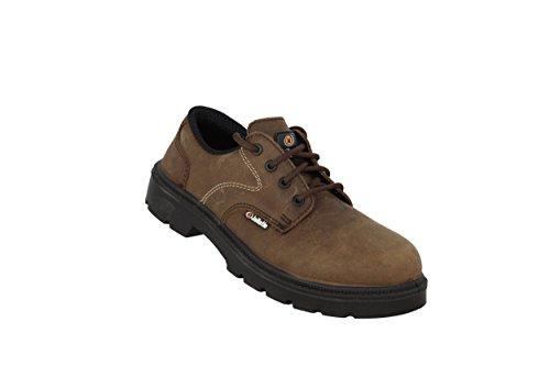 Jallatte Jalcaradoc Sas S3 Src Sapatos Profissionais Trabalham Sapatos Marrons Plana