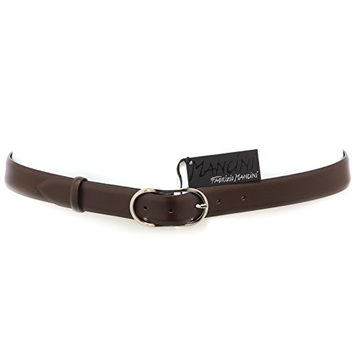 8485R cintura uomo FABRIZIO MANCINI pelle marrone belt men without box [100 CM]
