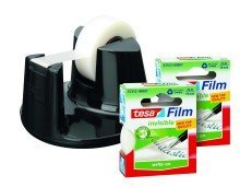 tesa Promo Sparpack tesafilm Eco&Clear 2x 33m:19mm + Easy Cut Compact Handabroller