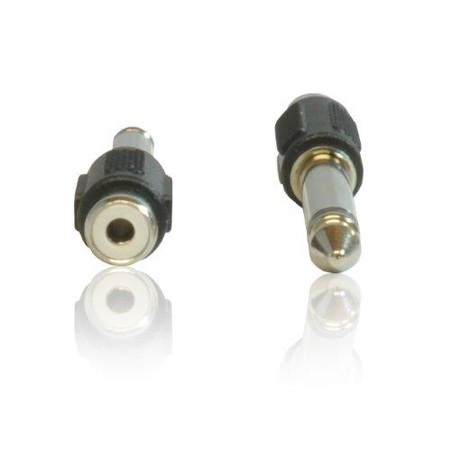 CDL Micro-Connettori RCA fono femmina a 6,35 mm, maschio, Mono, cavo adattatore convertitore (12 Guitar Amp)