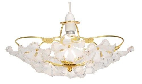 Plafoniera Fiori : Oaks lighting abeba plafoniera con fiori in ottone lucido e perle