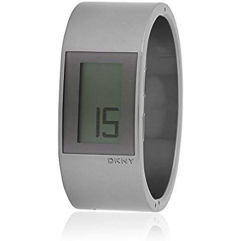 Dkny NY3825 - Reloj con correa de acero para hombre, color blanco / gris