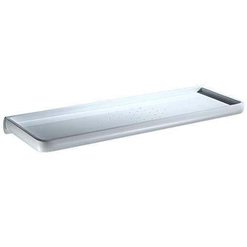 HhGold Nordisches einfaches weißes Raum-Aluminiumbadezimmer-Regal-antibakterielles Rechteck-Badezimmer-Lagerregal-Schminktisch-an der Wand befestigte quadratische Gestelle (Farbe : -, Größe : -)